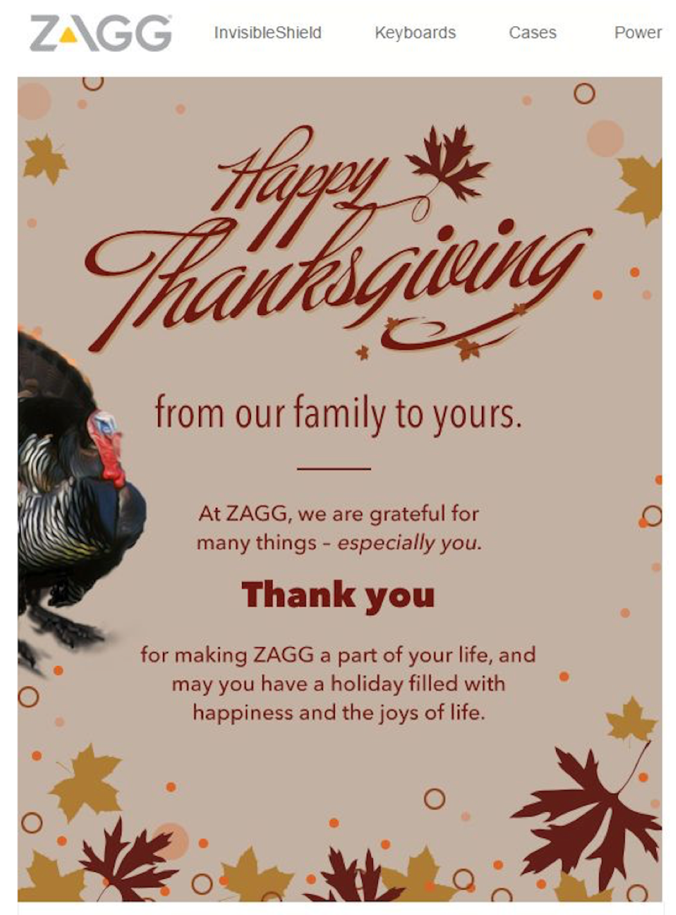 Thanksgiving Email Inspiration Robly Marketing Blog